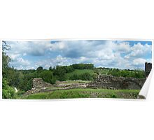 Farleigh Hungerford Castle Ruins panorama Poster