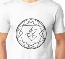Geometric Paper Crane Design Unisex T-Shirt