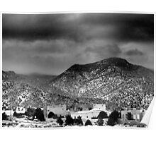 Albuquerque—High Desert in Winter, B&W Poster