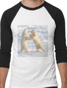 Dance of the white bears (I) Men's Baseball ¾ T-Shirt