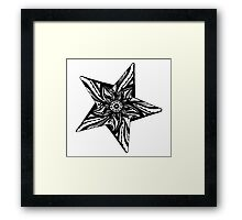 Star Tangles 2 Black - An Aussie Tangle by Heather Holland - See Description Notes for Colour Options.  Framed Print