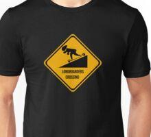 Longboarders crossing. Skate. Unisex T-Shirt