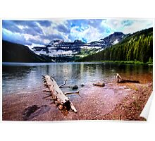 Lake in the Waterton National Park Canada Poster