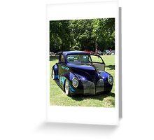 Purple Hot Rod Greeting Card