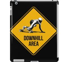 Downhill Area. Skaters and longboarders expected! iPad Case/Skin