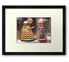 I Will Wait 4U- A Dalek in Love Framed Print