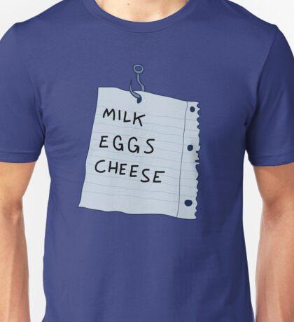 Haunted Shopping List Unisex T-Shirt
