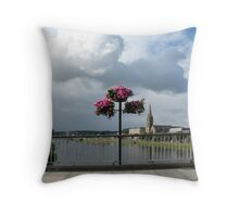 Flowers on Ness Bridge Throw Pillow