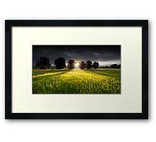 Green Isle Gloaming Framed Print