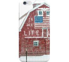 Americana Barn in the Snow Storm iPhone Case/Skin