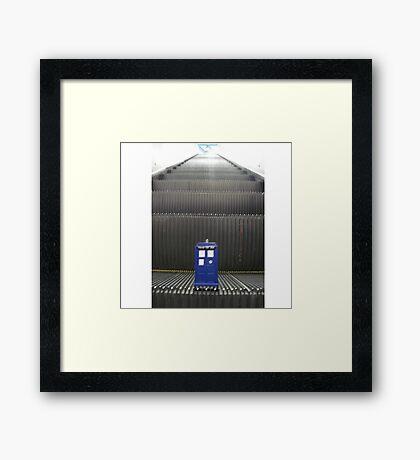 Stairway to TARDIS Framed Print