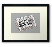 Stoop Kid Framed Print