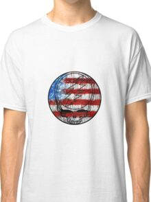 Grateful Dead Deadhead American Flag Classic T-Shirt