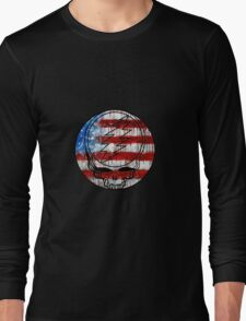 Grateful Dead Deadhead American Flag Long Sleeve T-Shirt