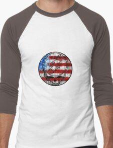 Grateful Dead Deadhead American Flag Men's Baseball ¾ T-Shirt