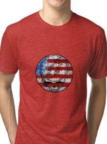 Grateful Dead Deadhead American Flag Tri-blend T-Shirt