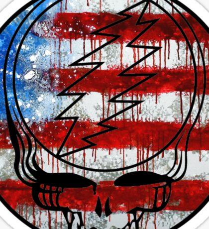 Grateful Dead Deadhead American Flag Sticker