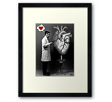 experiments of the heart  Framed Print