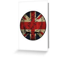 Grateful Dead Deadhead British Flag Greeting Card