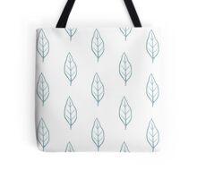Blue Leaf Pattern 3 Tote Bag