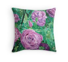 """Rothschild Roses"" Throw Pillow"