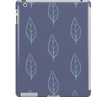 Blue Leaf Pattern 4 iPad Case/Skin