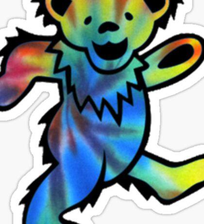 Grateful Dead Dancing Bear Tye Dye Sticker