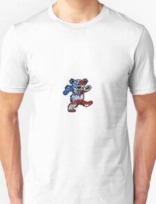 Grateful Dead Dancing Bear American Flag Unisex T-Shirt