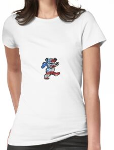 Grateful Dead Dancing Bear American Flag Womens Fitted T-Shirt