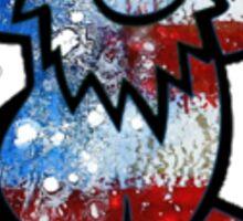 Grateful Dead Dancing Bear American Flag Sticker
