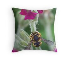 The Masked Insect Throw Pillow