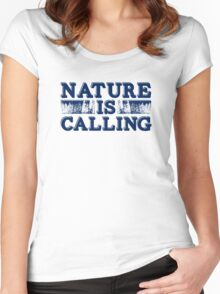 Nature Is Calling Women's Fitted Scoop T-Shirt