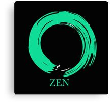 7 DAY'S OF SUMMER-YOGA ZEN RANGE- EMERALD ENSO Canvas Print