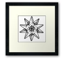 Star Tangles 3 Black - an Aussie Tangle by Heather - See Description Note for Colour Options Framed Print