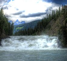 Bow River Waterfall in Banff (HDR) by Evan Adnams