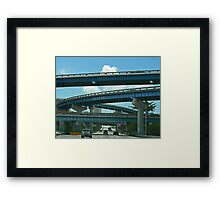Freeway Bridges Framed Print