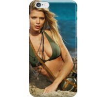 Beautiful young blond woman on the beach art photo print iPhone Case/Skin