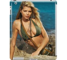 Beautiful young blond woman on the beach art photo print iPad Case/Skin