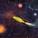travelling through Space by Paola Jofre