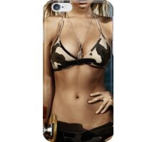 Artistic portrait of a girl with skateboard at the beach art photo print iPhone Case/Skin