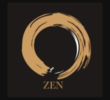 7 DAY'S OF SUMMER-YOGA ZEN RANGE- ORANGE ENSO Kids Tee