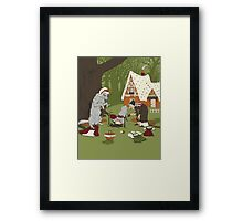 Wolf & Witch Framed Print