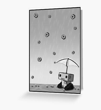 Raining Bolts Greeting Card