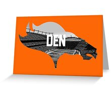Broncos Sports Authority  Greeting Card