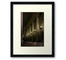 The Pope's Secret Hallway Framed Print