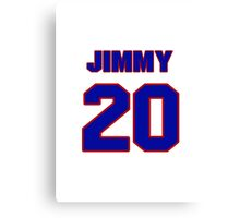 National Hockey player Jimmy Watson jersey 20 Canvas Print