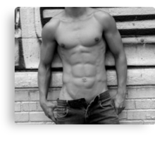 male abs  Canvas Print