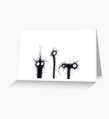 creatures from the drain 4 Greeting Card