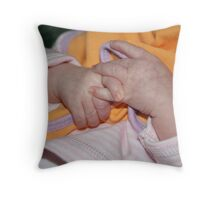 Baby hands Throw Pillow