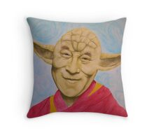 Dalai Yoda Throw Pillow